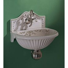 View the Herbeau 0205 Sophie Fountain-Style Bathroom Sink with Single Faucet Hole at FaucetDirect.com.