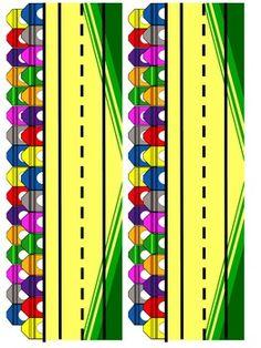 Crayon Themed Desk Name Plates and Binder Covers Preschool Rooms, Preschool Themes, Preschool Classroom, Classroom Themes, Kindergarten, Crayon Themed Classroom, Teacher Forms, 1st Grade Math Worksheets, Crayon Crafts