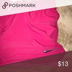 Pink Nike running shorts with built in spanx Size small. Hot pink running shorts with light pink built in spanx. Nike Shorts