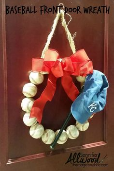 How to Make a Baseball Wreath for Your Front Door | Hometalk