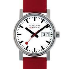 nice Mondaine MONEBD0007 Evo Big Date Ladies Watch, Red just added...