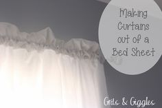 Grits & Giggles: Bed Sheet Curtains {Tutorial}