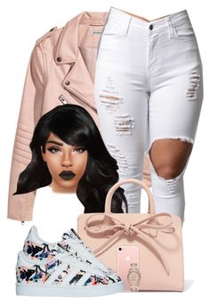 """N I K E S"" by chiamaka-ikaraoha ❤ liked on Polyvore featuring Mansur Gavriel and MICHAEL Michael Kors"