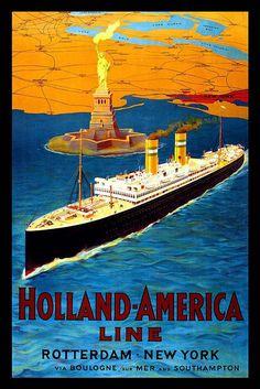 Holland - America Line #vintage #ad #hal