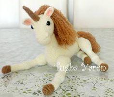 Leithygurumi: Amigurumi Altın Boynuzlu Unicorn Türkçe Tarif