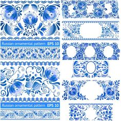 Russian ornamental pattern vector