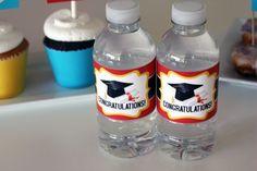 Free graduation water bottle labels