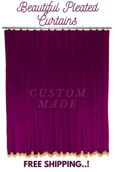 Home Theater Curtains, Stage Curtains, Home Theater Decor, Types Of Curtains, Pleated Curtains, Velvet Curtains, Home Decor, Custom Pillows, Dining Rooms