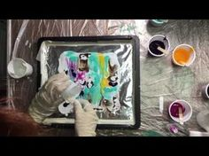 ( 002 )Not an Acrylic pour but Acrylic dipping - YouTube