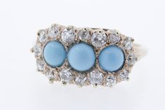Three Turquoise Orbs with Minecut Diamonds by timekeepersinclayton, $1575.00
