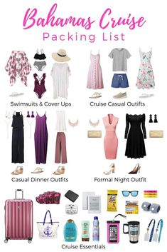 Bahamas Cruise Packing List - What to Wear on a Bahamas Cruise - Reise Tipps Loading. Bahamas Cruise Packing List – What to Wear on a Bahamas Cruise Honeymoon Cruise, Bahamas Cruise, Cruise Travel, Cruise Vacation, Beach Vacation Packing List, Hawaii Vacation Outfits, Spring Vacation, Vacation Style, Beach Trip