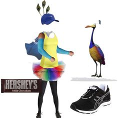 """Moms gonna be Russell and Im Kevin!! So excited! """"Kevin from """"UP"""" Disney Running Costume"""" by jwebber121110 on Polyvore"""