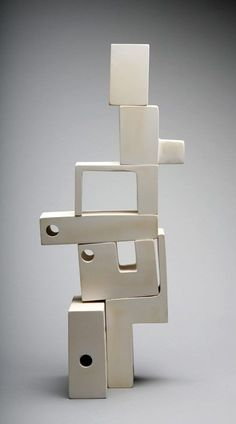 Andrew Molleur; Ceramic Modular 'Mad Man' Sculpture, c2012.