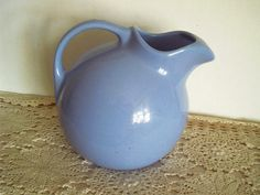 Hall Blue Pitcher by colonialcrafts on Etsy, $48.00