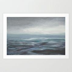 ciel gris Art Print by Iris Lehnhardt