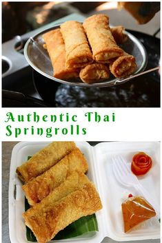Spring rolls - simply made by yourself - Spring rolls – simply made by yourself You are in the right place about thai recipes Here we offe - Whole30 Recipes Lunch, Grilling Recipes, Cooking Recipes, Thai Spring Rolls, Chicken Spring Rolls, Appetizer Dishes, Appetizer Recipes, Soup Appetizers, Tapas