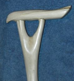 Forked Handle Hardwood Walking Cane, Apple Wood Walking Stick