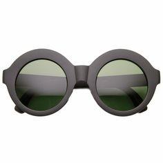 91a69d98c09 Womens Bold Oversized Glam Boho Fashion Circle Round Sunglasses
