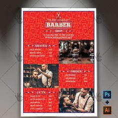 Barber Shop Pricelist - Premium A4 Flyer PSD/AI Template.   #apron #barber #barbershop #beard #chair #hair #mustache #price #pricelist #scissors #shaving #styling  DOWNLOAD PSD TEMPLATE HERE: https://www.psdmarket.net/shop/barber-shop-pricelist-premium-a4-flyer-psdai-template/  MORE FREE AND PREMIUM PSD TEMPLATES: https://www.psdmarket.net/shop/