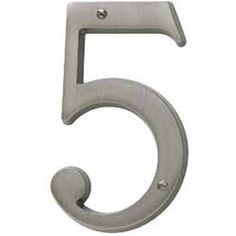 Baldwin 90675151 Antique Nickel House Number Solid Brass Residential House Number 5 by Baldwin. $12.00. Baldwin 90675 Address Numbers Antique Nickel House Number Home Accents 5 House Number Collection Residential House Number 5Large easy to read and with just a touch of cosmopolitan flair Baldwin s House Number collection is the perfect addition to the exterior of your home Constructed from solid forged brass each number is available in nearly two dozen beautiful ...