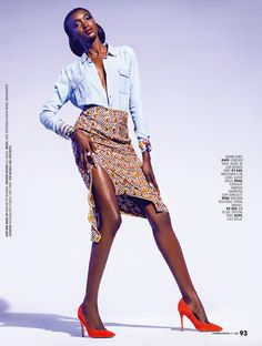 "Gaye McDonald featured in ""Denim gets a Ladylike Makeover""..."
