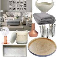 Living room tablescape