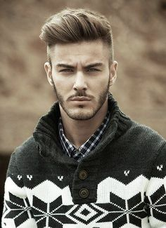 Great Men's Haircut! So many variations of this style - I also love his sweater