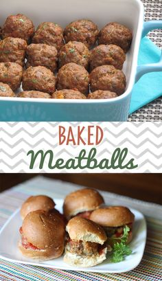 Baked Italian Meatballs are a 30 minute meal staple in our house! Perfect every time. #freezermeal #realfood