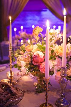 Taper Candle Wedding Decor