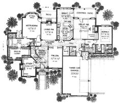Style House Plans - 3878 Square Foot Home , 2 Story, 4 Bedroom and 4 Bath, 3 Garage Stalls by Monster House Plans - Plan 8-637