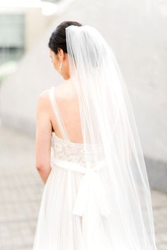 The perfect veil for this BHLDN gown http://ajdunlap.com/cora-jay-glass-box-nc-intimate-wedding/