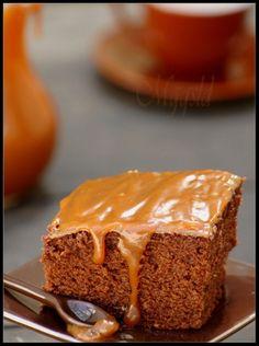 Moelleux au chocolat et caramel au beurre salé.