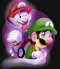Luigi's mansion with boo mario by BaconBloodFire on DeviantArt Luigi's Mansion Dark Moon, Paper Mario Games, Luigi's Mansion 3, Strange Noises, Super Mario 3d, Crazy Eyes, Drawing Games, Mario And Luigi, Manga Artist