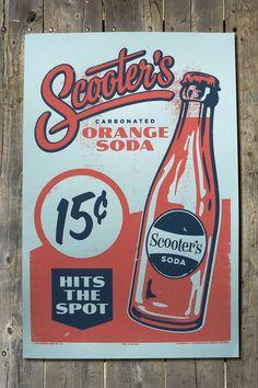 Scooter's Retro Americana Orange Soda Bottle Sales by FarmhandCo