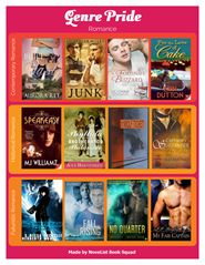 """So the NoveList Book Squad may have gotten a bit carried away when we made FOUR printable flyers to spotlight awesome genre fiction featuring gay, lesbian, bisexual, transgender, and queer protagonists.   LibraryAware customers can swap titles to reflect their collections. NoveList users can find more great books with the search strategies outlined in this email. Want to edit them? Search for """"Pride"""" in the Flyers-Books section. ."""