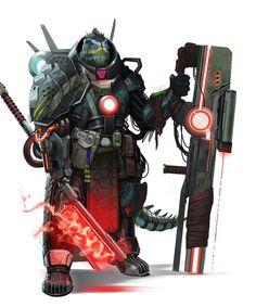 #Starfinder Obozaya the iconic vesk mercenary