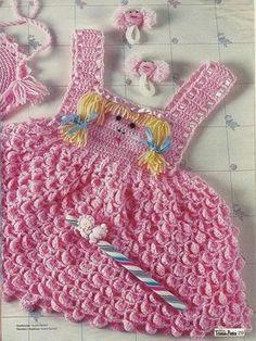 . na lista de opções para as meninas é o vestido rosa de bebê