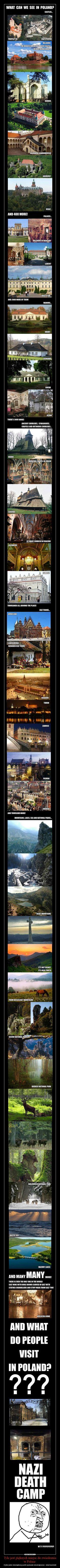 Tyle jest pięknych miejsc do zwiedzenia w Polsce  – A tylko jeden obowiązkowy punkt wycieczek obcokrajowców - obóz Auschwitz