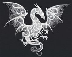 An FSL Dragon!  How awesome is this? Dragon Smoke | Urban Threads: Unique and Awesome Embroidery Designs