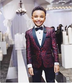Home> Weddings & Events> Kids Formal Wear> Boy's Formal Wear> Product detail New Print Boy Tuxedos 2019 One Button Shawl Lapel custom Made Boy Wedding Suits Two Piece suits (Jacket+Pants+Tie) Boys Wedding Suits, Tuxedo Wedding, Wedding Attire, Wedding Dresses, Maroon Wedding, Burgundy Wedding, Boys Formal Wear, Custom Tuxedo, Boys Tuxedo