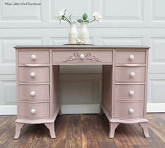 Painted End Tables, Solid Wood Dresser, Coffee Table Base, Damask Stencil, Little Owl, Kitchen Stools, Furniture Projects, Vintage Pink, Painted Furniture