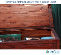 This is a guide about removing a mothball odor from a cedar chest. The odor of moth balls can so permeate a cedar chest as to make it unusable until you can remove the smell.