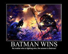 Batman Wins! ---- even on DVC Universe, he can't die :P