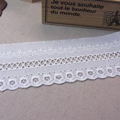 "5Yds Embroidery scalloped cotton eyelet lace trim 2.2/"" YH1152 laceking2013"