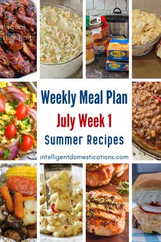 A free weekly meal plan for July Week one. Dinner recipes and side dish ideas for summer. #mealplan Bbq Beef Sandwiches, Dinner Suggestions, Summer Meal Planning, Love Food, Fun Food, Cooking Light, Southern Recipes, Meals For The Week, Summer Recipes