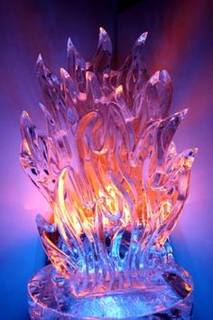Ice Sculpture - Flames