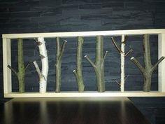 Handgefertigte Garderobe aus Holz Natur von Powercard auf DaWanda.com