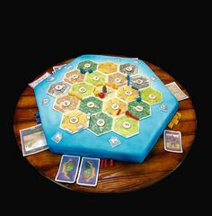 Settlers of Catan cake... I'm freakishly happy about this!