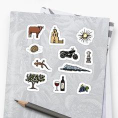 Stickers Motif Sud de France #occitanie #soleil #campagne #montpellier #picsaintloup #provence #vin #moto Pic Saint Loup, Stickers, Graphic, France, Website, Montpellier, Provence, Patterns, Pattern