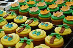 A Little Luau {Hawaiian Luau Cupcakes} | A Little Something Sweet - Custom Cakes